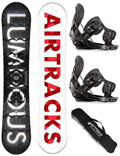 AIRTRACKS SNOWBOARD SET / LUMINOUS SNOWBOARD WIDE + BINDUNG FLOW FIVE + SB BAG / 152 157 159 162 / cm