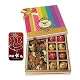 Chocholik Awesome Combination Of Almonds, Raisin, Cashew, Truffles & Chocolates Rocks Gift Box With 3d Mobile...