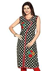 Folka Dot Printed Pakistani Long Kurtis - B00Y1AAUCS