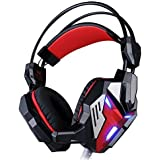 Qisan Vibration Function Professional Gaming Headphone Games Headset With Mic Stereo Bass Breathing LED Light...