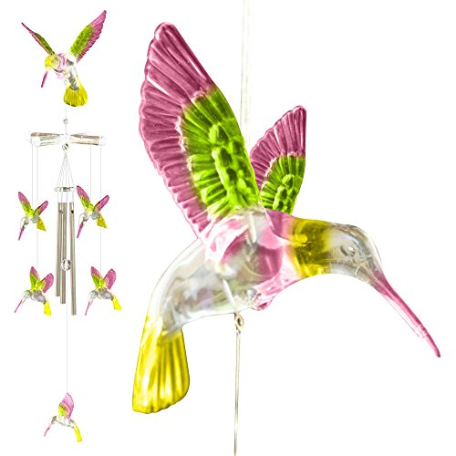 Hummingbird Wind Chimes Outdoor Decor Unique