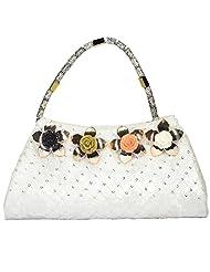 Arisha Kreation Co Women Hand Bag (White) - B00W5EEUBO
