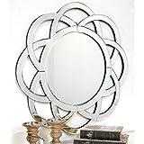 Venetian Design Semi CIrcle Pattern Wall Mirror
