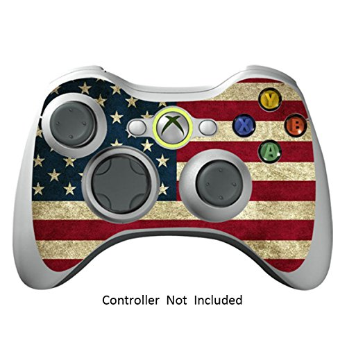 Game Xcel Xbox 360 High Gloss Controller Skin Protective Vinyl Sticker For X360 Slim Wireless Game Controller X3 Controller Decal Battle Torn Stripes