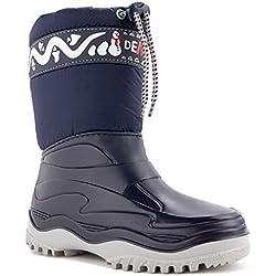 DEMAR Kinder Winterstiefel Schuhe gefüttert FROST (28/29, blau)
