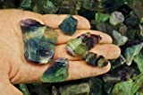 Fantasia Materials: 1 lb Premium Grade Rainbow Fluorite Rough - (Select 1 to 18 lbs) - Raw Natural Crystals for Cabbing, Cutting, Lapidary, Tumbling, Polishing, Wire Wrapping, Wicca & Reiki Healing