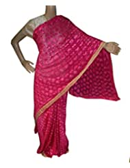 Beautiful RUDA Designer Phulkari Embroidered Saree-JS1120