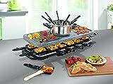 TV Unser Original 05897 Gourmet maxx Raclette-und Fondue-Set, granit -