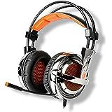 Sades SA-928 Professional Gaming Headphones Headset Over Ear Headband With High Sensitivity Microphone Volume...