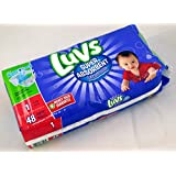 Luvs Super Absorbent Diapers With Nightlock Leakguards, Size 1, 48 Count