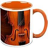 HomeSoGood Magical Voice On Guitar Music White Ceramic Coffee Mug - 325 Ml