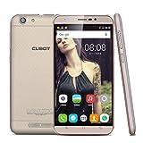"Cubot Dinosaur - Smartphone Móvil Libre 3G Android 6.0 (5.5"" IPS Pantalla, Dual Sim, Quad Core, 16Gb Rom, 3Gb Ram, 13Mp, WIFI, Bluetooth, GPS, HotKnot, OTG) (Dorado)"