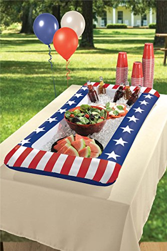 Stars & Stripes Buffet Cooler (inflatable 50x24 in)