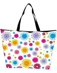 Snoogg Colorful Pattern Amazed Designer Waterproof Bag Made Of High Strength Nylon