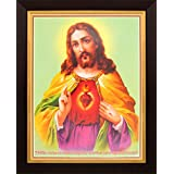 Sacred Heart Of Jesus Poster With Frame (Size: 8.5x11 Inch)