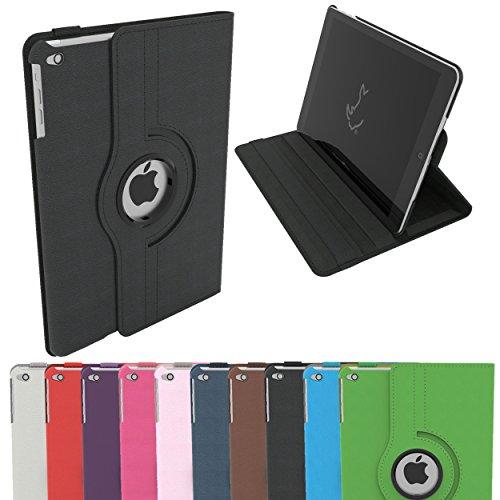 Étui pour iPad Air, Étui Housse Intelligent Rotatif RC 360 Couverture en Cuir PU pour Apple iPad Air avec Sommeil / Éveil (iPad Air, Noir)