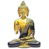 Indian Arts Shop Buddha Brass (6.1 Cm X 11.18 Cm X 17.27 Cm, Lustrous Golden)