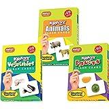 Krazy Mini Flash Cards Set Of 3(Animals,Vegetables,Fruits)
