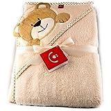 Baby Bath Towel With Hood. Microfibre - Children Hooded Towel - Warm! (Bear)
