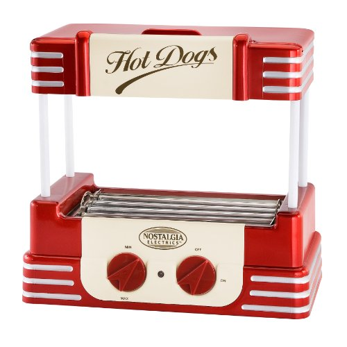 IOld-fashioned Hot Dog roller cooker
