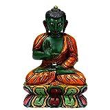 Redbag Blessing Buddha - Nepalese Wood Statue ( 15.24 Cm, 10.16 Cm, 6.35 Cm )