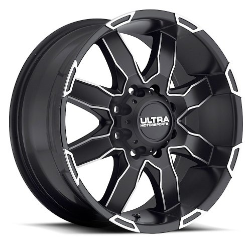 Ultra Phantom 17 Black Machined Wheel / Rim 6×5.5 with a 10mm Offset and a 106 Hub Bore. Partnumber 225-7883U+10