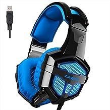 LETTON 2016 Version Vibration PC Gaming Headset LETTON G1 Wired Stereo Gaming Headset LED Lighting Over Ear Headphone...