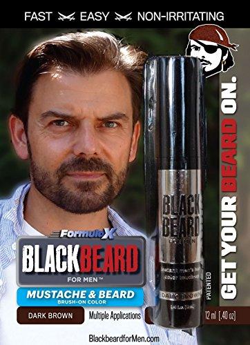 Beard & Mustache Instant Brush-on Color Dark Brown by Blackbeard ...