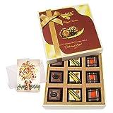 Amazing Pralines Chocolates With Birthday Card - Chocholik Luxury Chocolates
