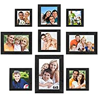 Sifty Collection Collage Photo Frames (6x8) 1, (5x7) 2, (5x5) 4, (4x4) 2, Set Of 9 Pcs