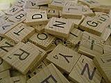 300 Scrabble Tiles - NEW Scrabble Letters - Wood Pieces - 3 Complete Sets - Great for Crafts, Pendants, Spelling