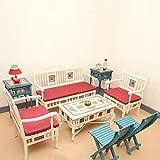 "ExclusiveLane Teak Wood ""Modern"" Living Room Furniture Set With Dhokra & Warli Work In Creamish White & Cerulean..."