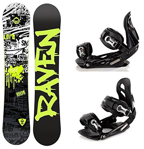 Snowboard Set: Snowboard Raven Core Rocker 2016 + Bindung Raven s250 Black M/L