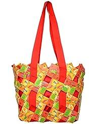 Magenta Blues Tetra 15 Ltrs Orange Reusable Shopper Bags