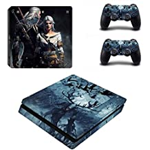 Elton The Witcher 3 - Wild Hunt Theme 3M Skin Sticker Cover For PS4 Slim Console And Controllers
