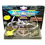 Star Trek: Deep Space Nine MicroMachines - Cardassian Galor Warship - Space Station Deep Space Nine - Runabout