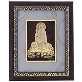 FineDor 24kt Gold Foil 3D Sai Baba Frame, 13cmX3cm