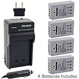 [Fully Decoded] Kastar EN-EL24 Battery (4-Pack) And Charger Kit For Nikon EN-EL24 ENEL24 Rechargeable Li-ion Battery...