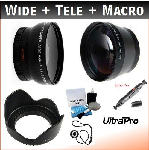 37mm Digital Pro Essential Lens Kit, Includes 2x Telephoto Lens + 0.45x HD Wide Angle Lens W/Macro + Pro Lens...