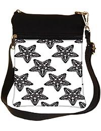 Snoogg Dark Starfish Cross Body Tote Bag / Shoulder Sling Carry Bag
