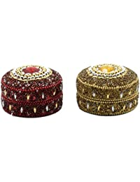 Nuovo Fashion Handcrafted Combo Set Of Metal Jewellery Box