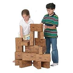 Giant Timber Blocks (16 Pieces)