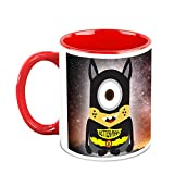 HomeSoGood Minion Betterman From Despicable Me White Ceramic Coffee Mug - 325 Ml