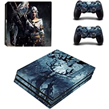 Elton The Witcher - III Wild Hunt Theme 3M Skin Sticker Cover For PS4 Pro Console And Controllers