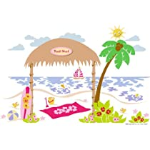 Beach Shack Paint by Number Wall Mural