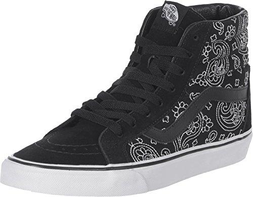 Vans Sk8-Hi Reissue Round Toe Synthetic Sneakers Black/True White 12 D(M) US