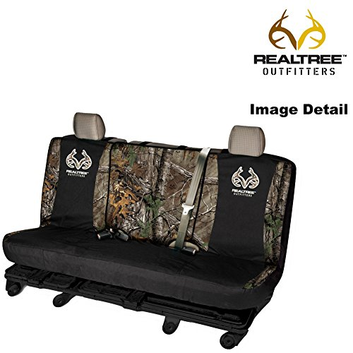 Realtree Outfitters Brand Logo Infinity Camo Car Truck SUV Universal-fit Full Size Switch Back Series Rear Bench Seat Cover