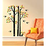 Decals Design 'Flowers On Branches Of The Tree' Wall Sticker (PVC Vinyl, 50 Cm X 70 Cm X 1 Cm)