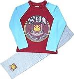 Boys West Ham United Football Club Long Pyjamas Size 5-6 Years