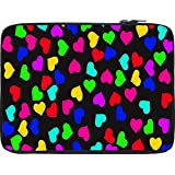 Snoogg Heart Pattern 2421 12 To 12.6 Inch Laptop Netbook Notebook Slipcase Sleeve
